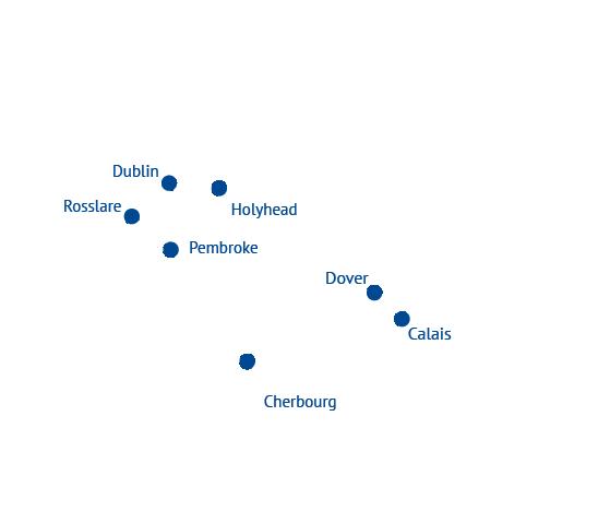 Routen Irlandfähre