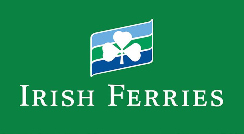 Irish Ferries Corporate Logo – (grüner Hintergrund)